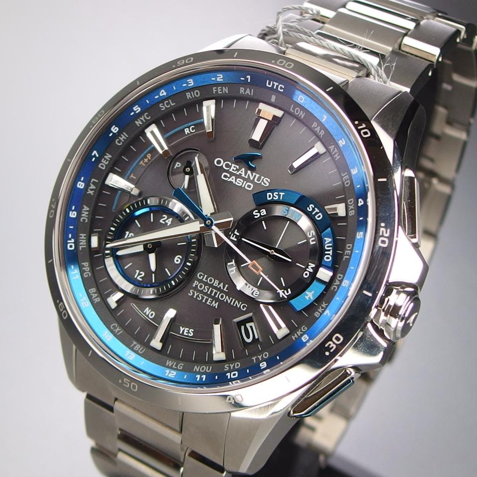 f3c7c7f179 【未使用 定価20万】 CASIO カシオ OCEANUS オシアナス OCW-G1000 フルメタル GPSハイブリッド電波ソーラー ワールドタイム  メンズ 腕時計