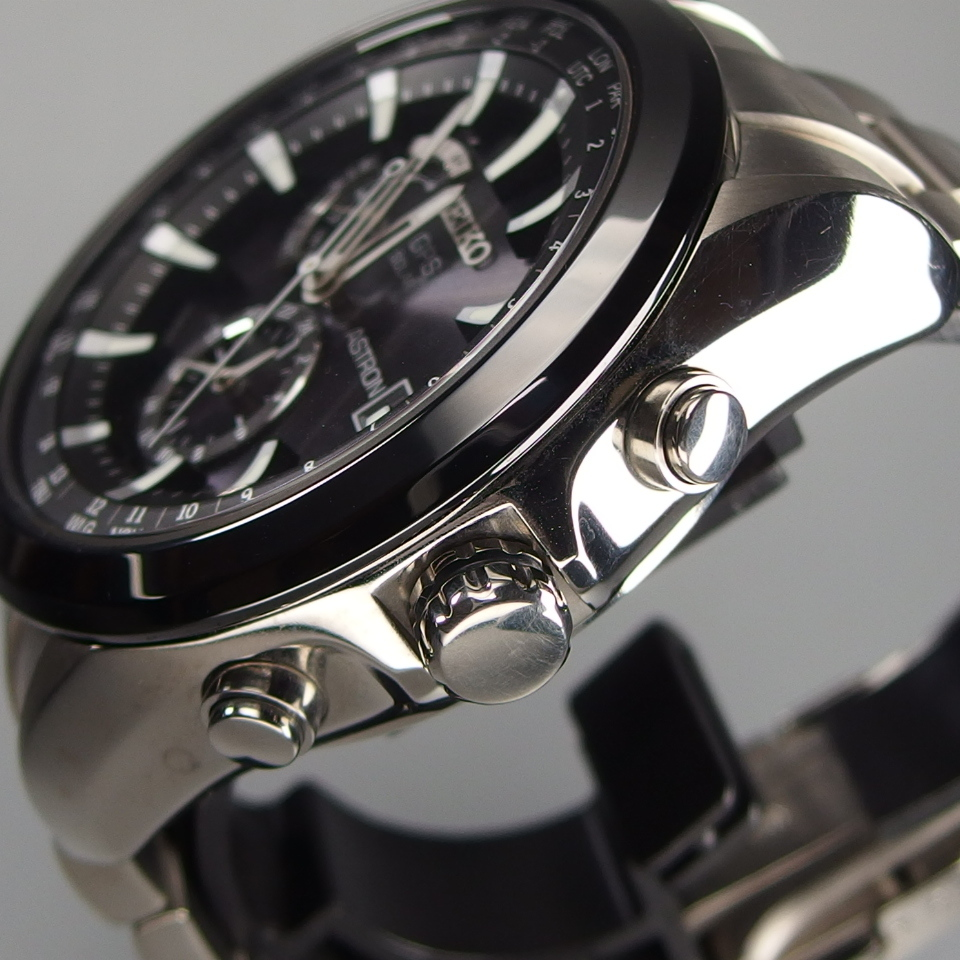 【美品 定価20万】 SEIKO セイコー ASTRON アストロン SBXA003 X52-0AA0 GPSソーラー 電波 チタンxセラミック メンズ 腕時計 ギャラ/BOX付_画像3