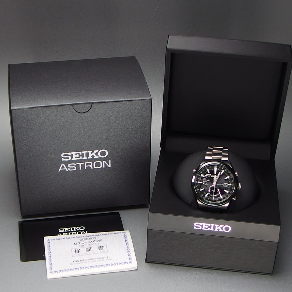 【美品 定価20万】 SEIKO セイコー ASTRON アストロン SBXA003 X52-0AA0 GPSソーラー 電波 チタンxセラミック メンズ 腕時計 ギャラ/BOX付_画像10