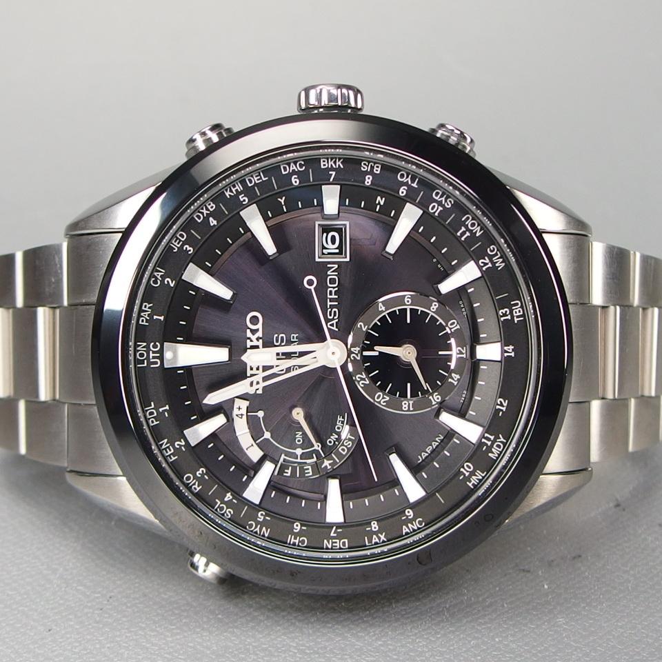 【美品 定価20万】 SEIKO セイコー ASTRON アストロン SBXA003 X52-0AA0 GPSソーラー 電波 チタンxセラミック メンズ 腕時計 ギャラ/BOX付_画像5