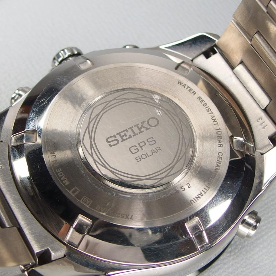 【美品 定価20万】 SEIKO セイコー ASTRON アストロン SBXA003 X52-0AA0 GPSソーラー 電波 チタンxセラミック メンズ 腕時計 ギャラ/BOX付_画像9