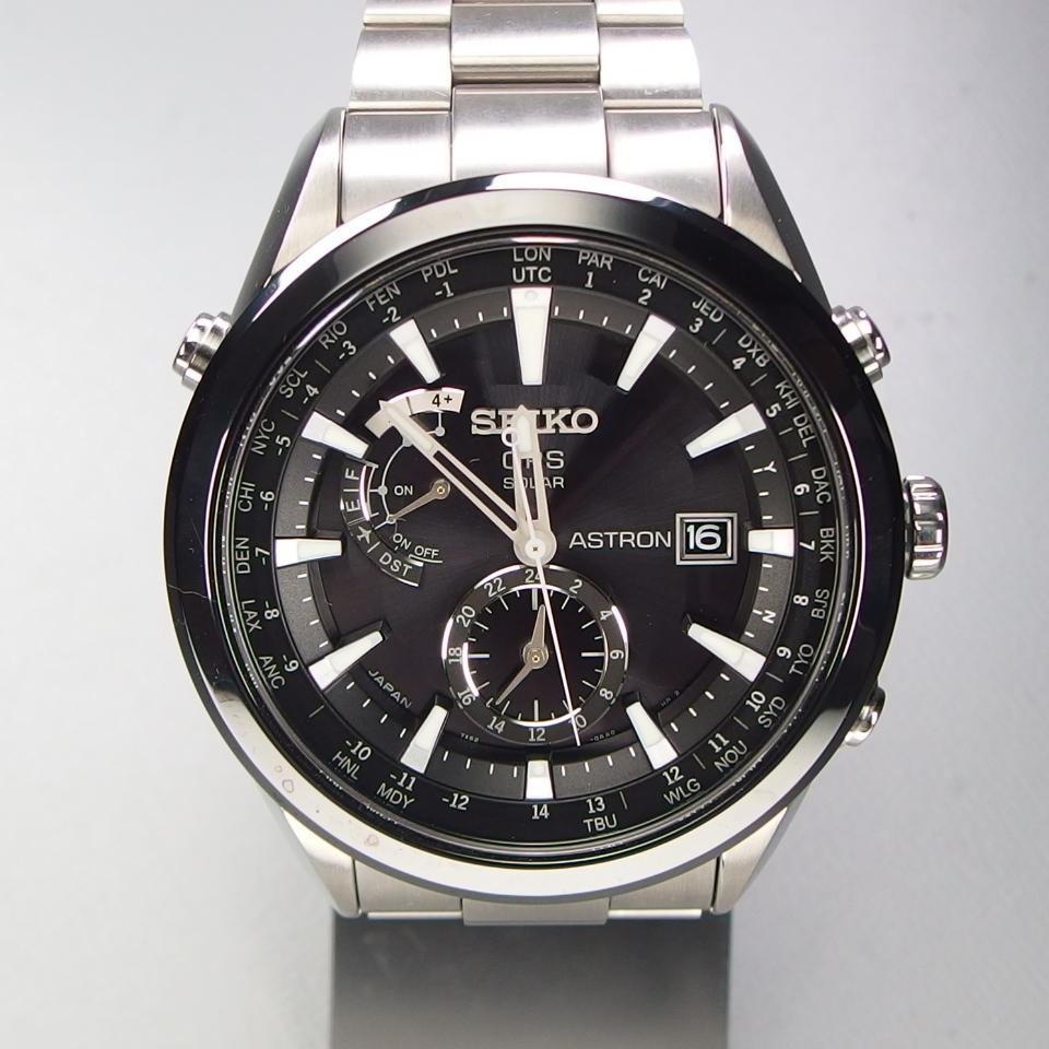 【美品 定価20万】 SEIKO セイコー ASTRON アストロン SBXA003 X52-0AA0 GPSソーラー 電波 チタンxセラミック メンズ 腕時計 ギャラ/BOX付_画像2