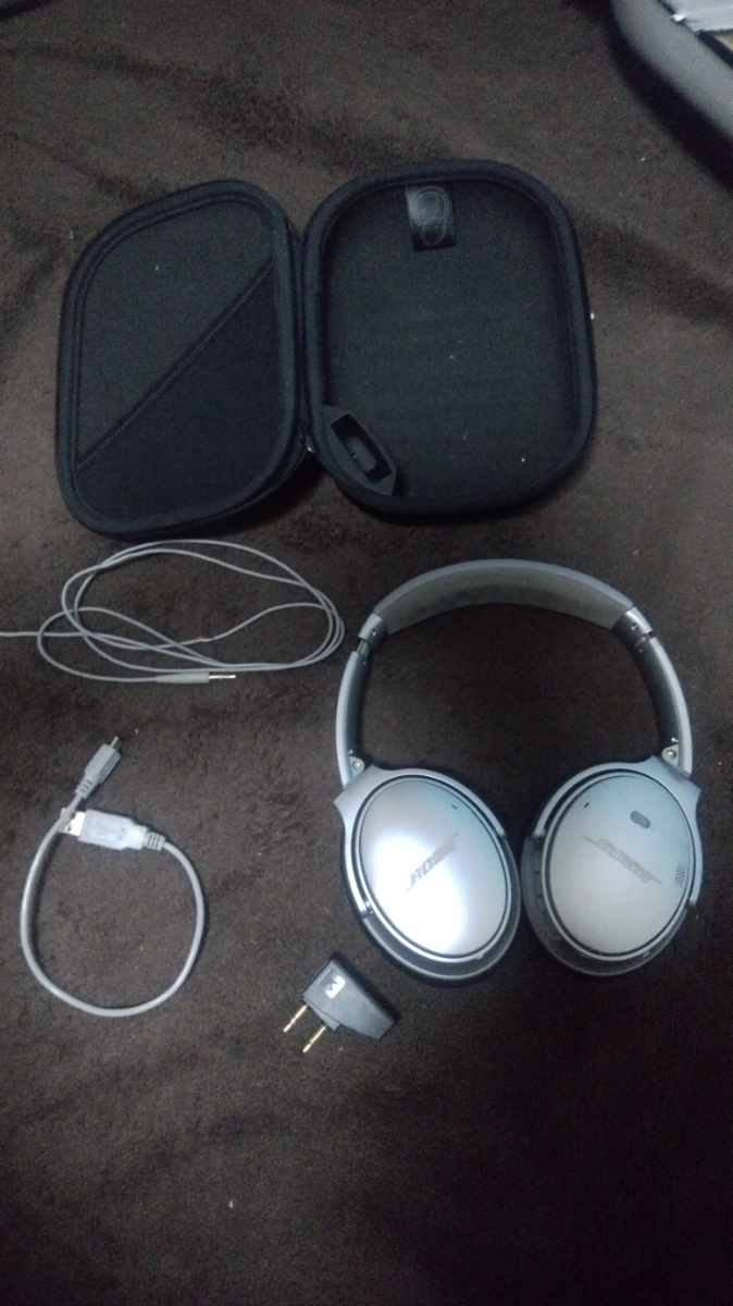 BOSE QuietComfort Wireless headphones Bluetooth silver ノイズキャンセリング 中古 _画像5
