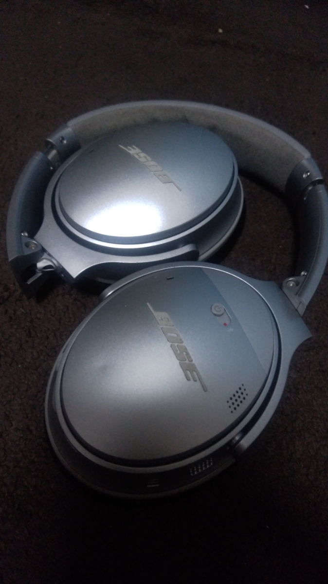 BOSE QuietComfort Wireless headphones Bluetooth silver ノイズキャンセリング 中古 _画像3
