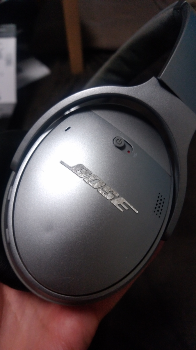 BOSE QuietComfort Wireless headphones Bluetooth silver ノイズキャンセリング 中古 _画像6