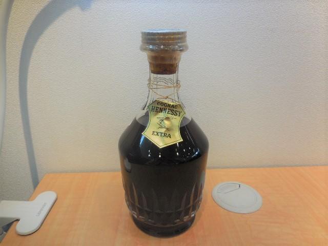 Hennessy ヘネシー EXTRA エクストラ バカラボトル 替栓 袋 箱付き 【未開栓】 #24080_画像2