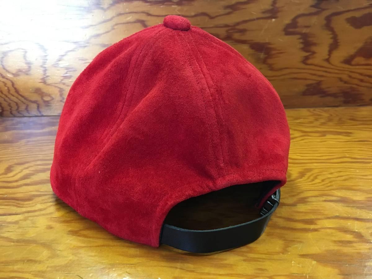 【KAIKO/カイコ】PIG SUEDE CAP ピッグスウェード キャップ 5-Panel レザーキャップ ベースボールキャップ ユニセックス 代官山O_画像3