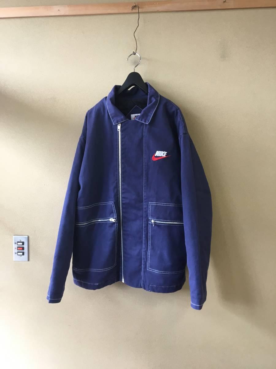 【Supreme×NIKE/シュプリーム×ナイキ】Double Zip Quilted Work Jacket sizeL NAVY ダブルジップ キルティング ワークジャケット