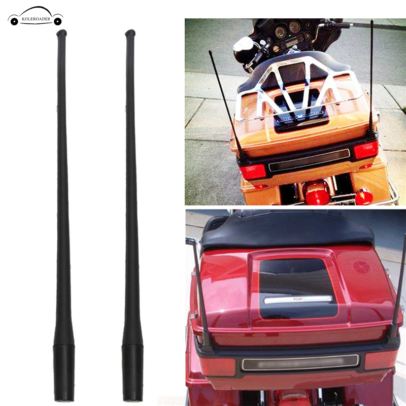 ZYTC 13 Antenna Mast Short Custom Flexible Rubber AM//FM Antenna for 1989-2017 Harley Davidson Electra Road Tour Ultra Classic
