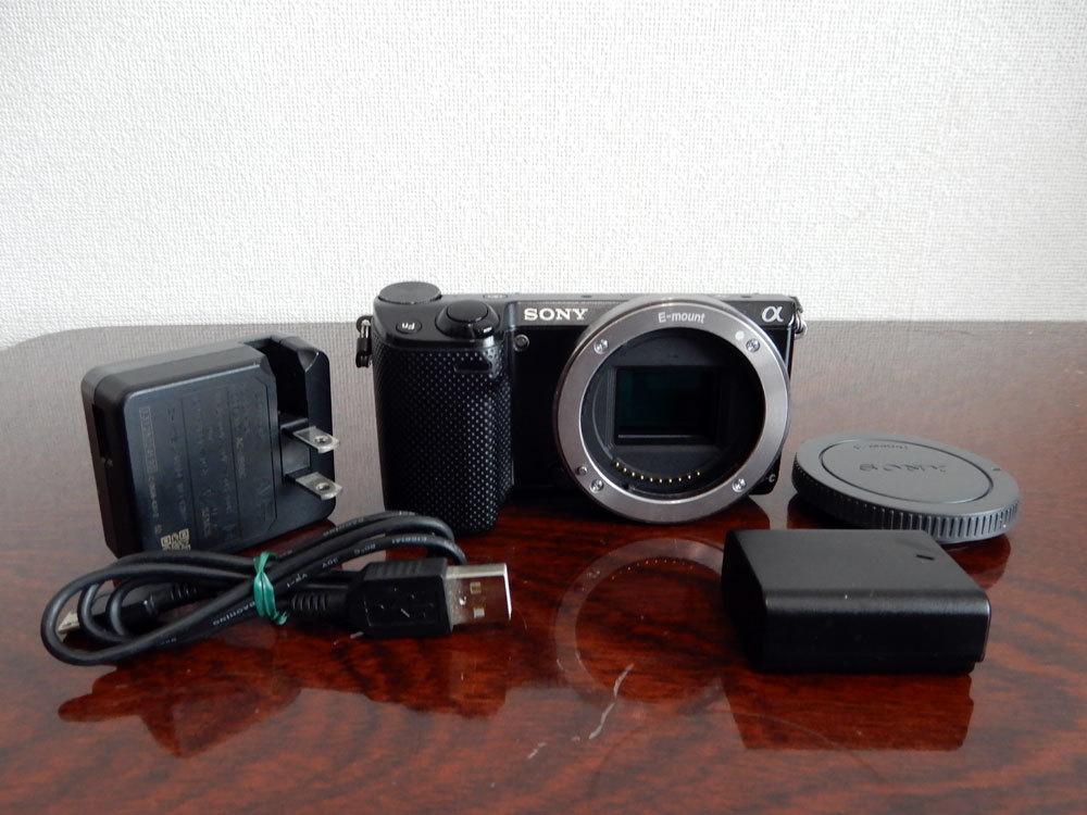 1円~Sony【 NEX-5R 】ミラーレス一眼 ハイビジョン動画 ボディ 動作確認済み 最低落札価格なし