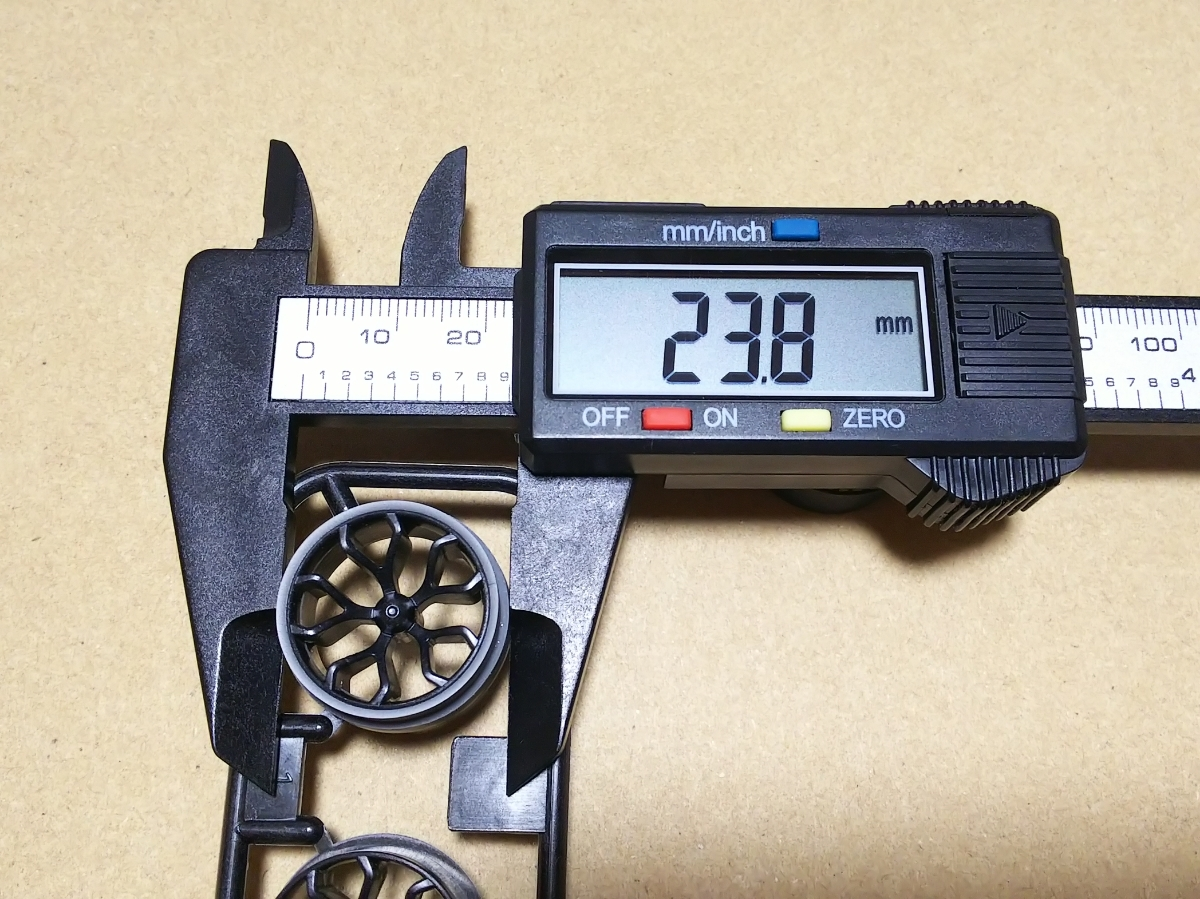 ミニ四駆 段付きペラタイヤ シルバー 中径サイズ ハードローハイト加工_画像2