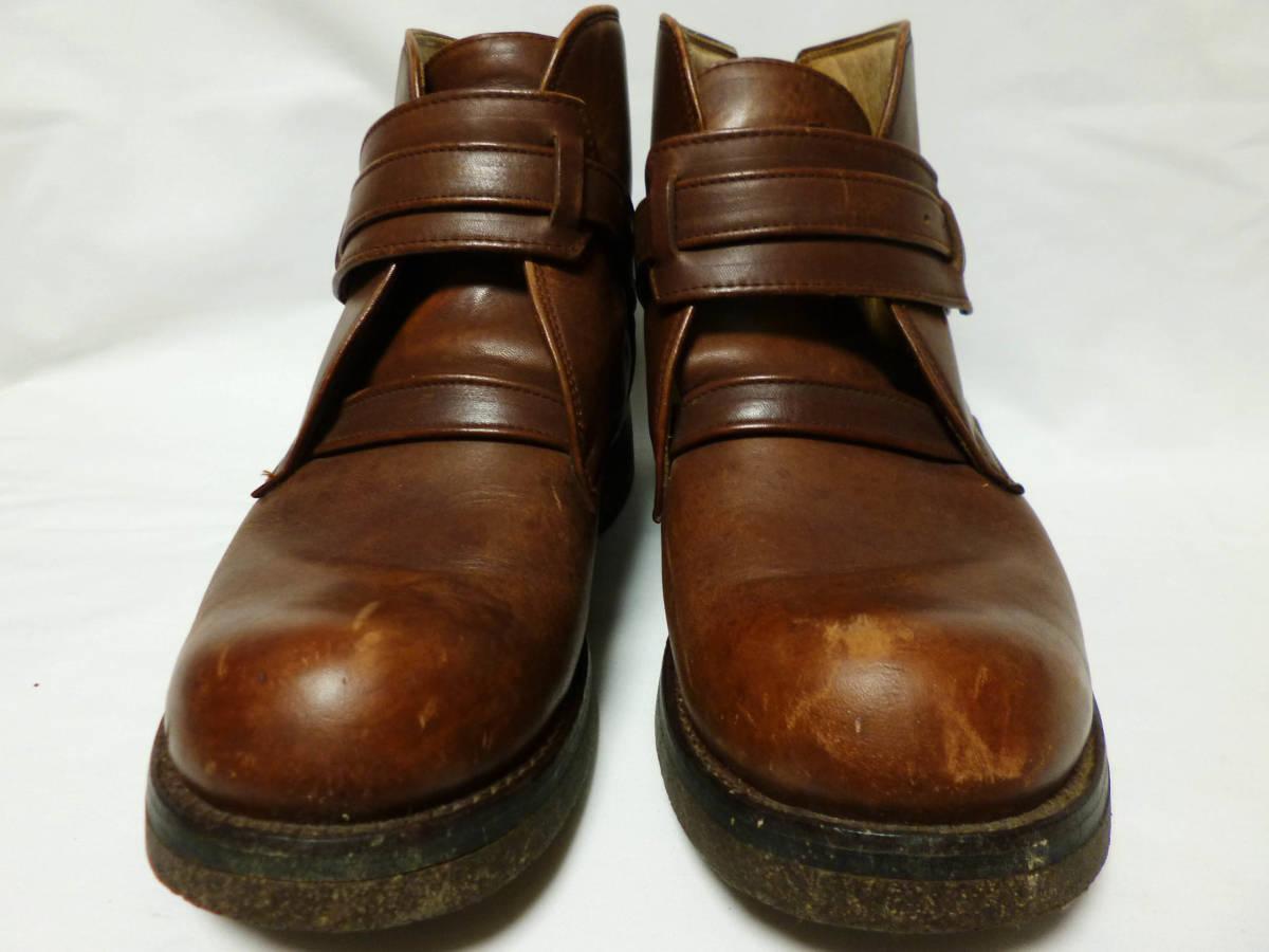 ◆ハロルズギア HAROLD'S GEAR 焦茶厚いベルトブーツ USED 25.5cm程_画像4