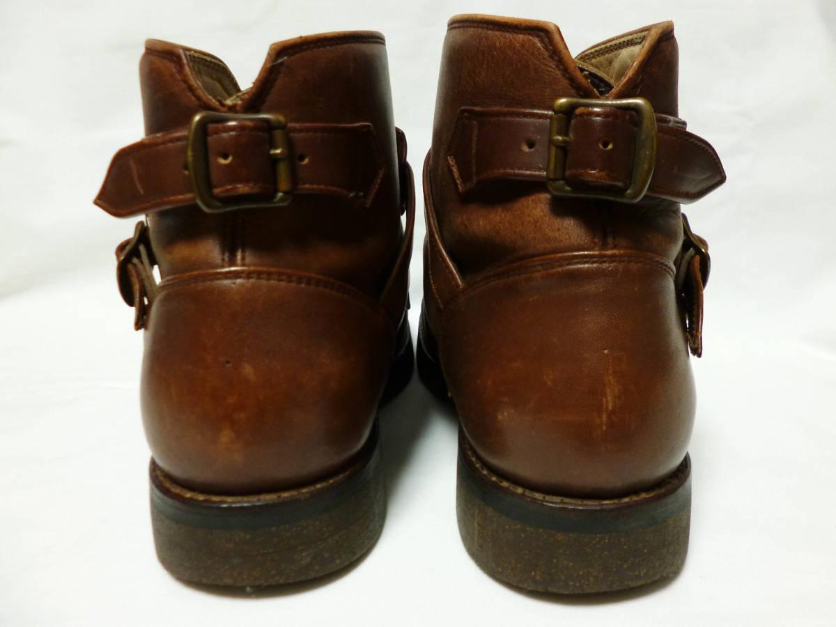 ◆ハロルズギア HAROLD'S GEAR 焦茶厚いベルトブーツ USED 25.5cm程_画像5