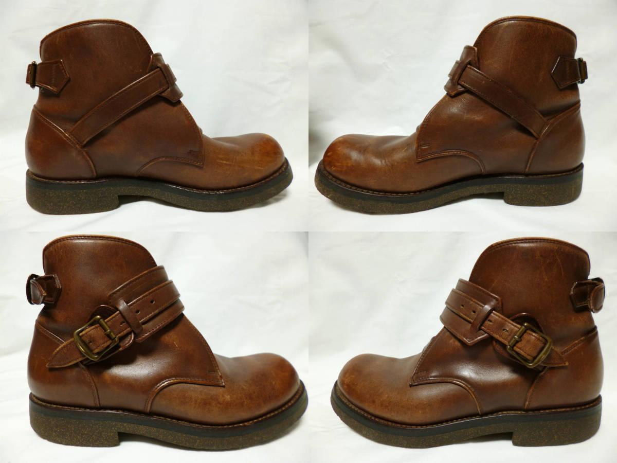 ◆ハロルズギア HAROLD'S GEAR 焦茶厚いベルトブーツ USED 25.5cm程_画像6