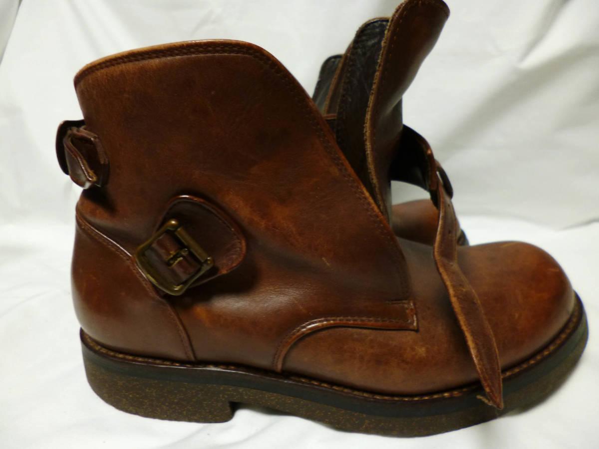 ◆ハロルズギア HAROLD'S GEAR 焦茶厚いベルトブーツ USED 25.5cm程_画像7