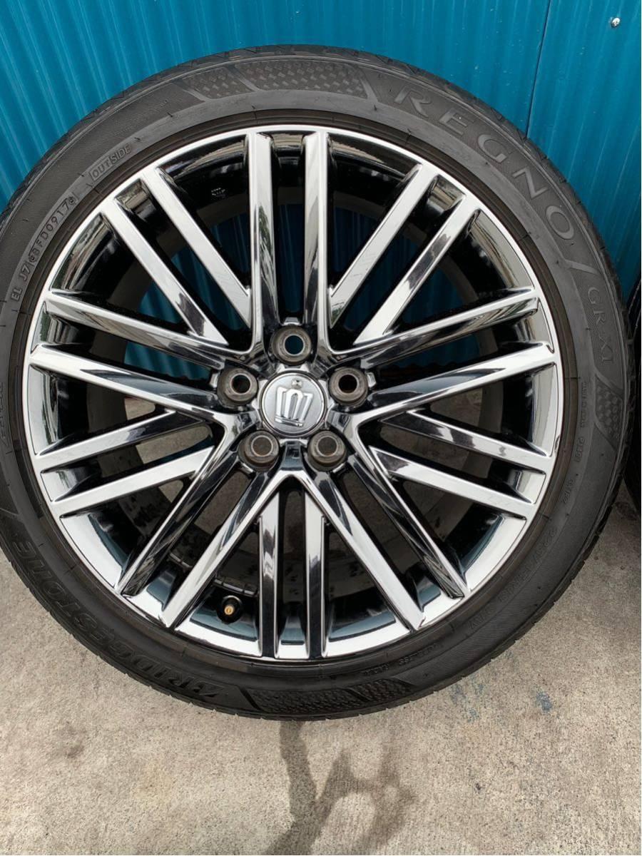 210 クラウン アスリート AWS210 GRS210 純正 オプション 18 インチ スパッタリング ホイール 4本 セット 225/45R18 BRIDGESTONE タイヤ_画像4