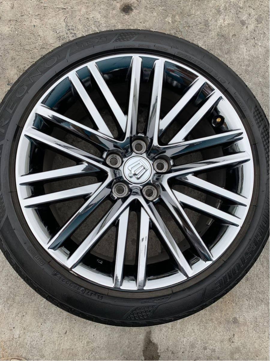 210 クラウン アスリート AWS210 GRS210 純正 オプション 18 インチ スパッタリング ホイール 4本 セット 225/45R18 BRIDGESTONE タイヤ_画像6