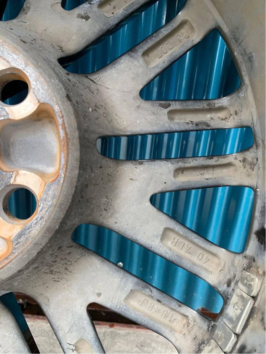 210 クラウン アスリート AWS210 GRS210 純正 オプション 18 インチ スパッタリング ホイール 4本 セット 225/45R18 BRIDGESTONE タイヤ_画像9