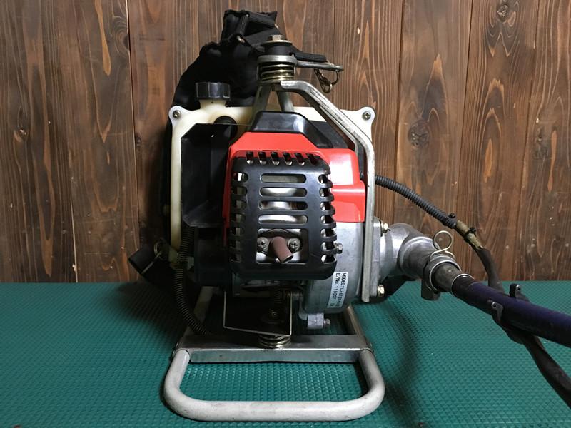 【営業所止め】中古 整備済 ビーバー F261M 背負式 26cc バーハンドル エンジン式 刈払機 草刈機 新品チップソー付_画像3