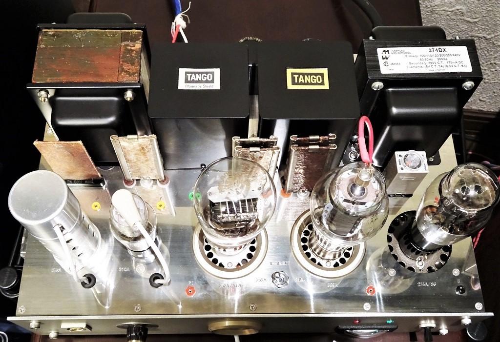 美品【マニア必見】300B(WE252A、AT20、同等管も可)/WE339A コンパチブル・シングル・モノラル・パワーアンプ 2台 ☆ 出力管以外は付属_画像3