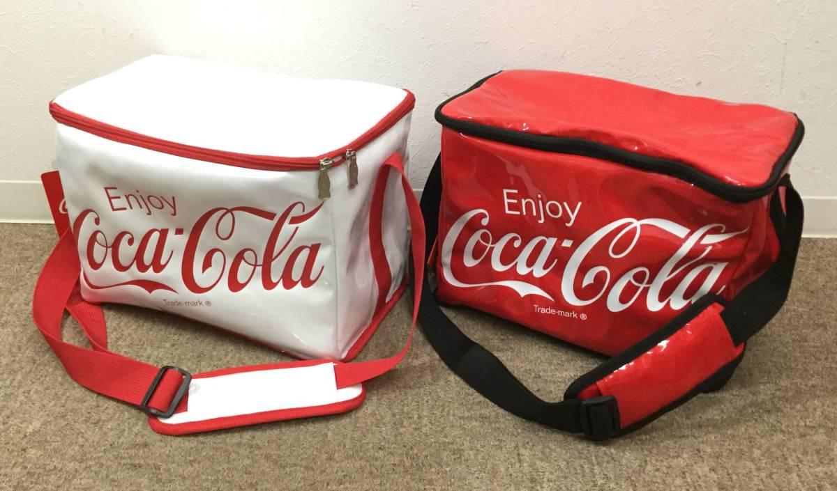 6634■3点セット 未使用 コカコーラ ビーチチェア Ver5 保冷バッグ/クーラー バッグ 赤/白 レッド/ホワイト 肩掛け ショルダー Coca-Cola_画像5