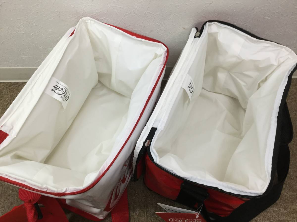 6634■3点セット 未使用 コカコーラ ビーチチェア Ver5 保冷バッグ/クーラー バッグ 赤/白 レッド/ホワイト 肩掛け ショルダー Coca-Cola_画像7
