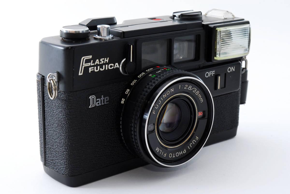 ★即決★価格交渉あり★フジカ Fujica Flash Fujica Date + FUJINON 38mm 2.8 コンパクトカメラ★昭和レトロ★ボディキャップ★#2395_画像4