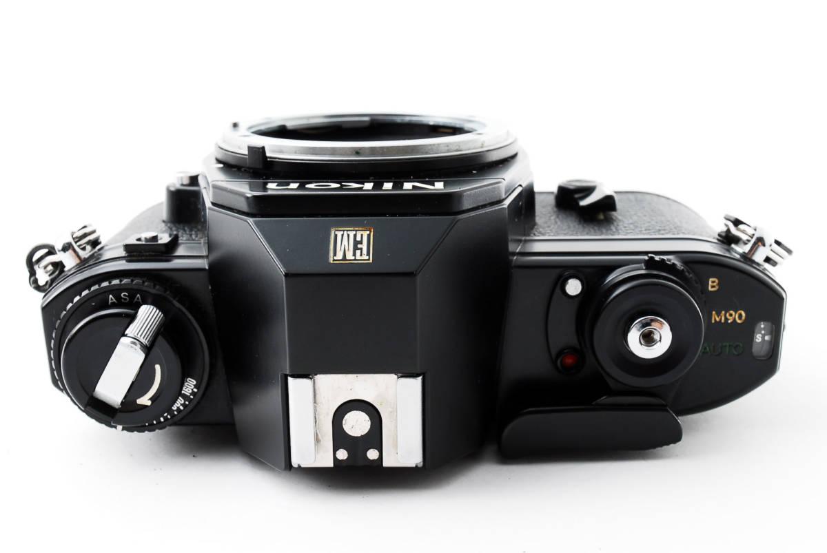 ★即決★値下げ交渉あり★ニコン Nikon EM Black MF 一眼レフカメラ ボディ★新品級★#2544_画像9