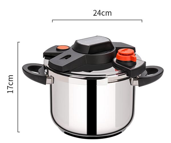 圧力鍋 ステンレス製 プレッシャークッカー 電気圧力鍋万能調理器 直径24cm 蒸し器付き 調理器具 家庭用_画像8