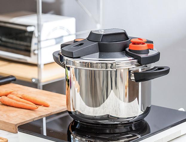圧力鍋 ステンレス製 プレッシャークッカー 電気圧力鍋万能調理器 直径24cm 蒸し器付き 調理器具 家庭用_画像3