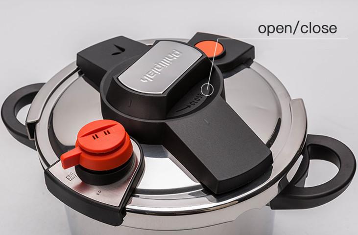 圧力鍋 ステンレス製 プレッシャークッカー 電気圧力鍋万能調理器 直径24cm 蒸し器付き 調理器具 家庭用_画像4