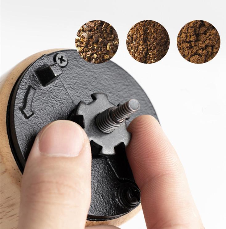 手動コーヒー 粗細調節可 コーヒー豆 セラミック マグカップ付き 手回し アウトドア クリーニング コーヒー用品 _画像4