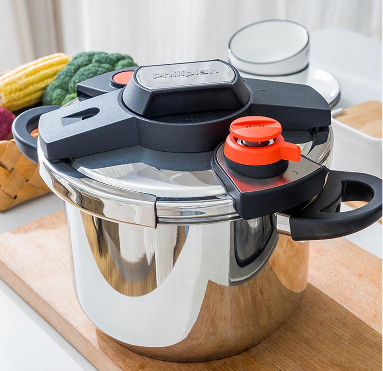 圧力鍋 ステンレス製 プレッシャークッカー 電気圧力鍋万能調理器 直径24cm 蒸し器付き 調理器具 家庭用_画像2