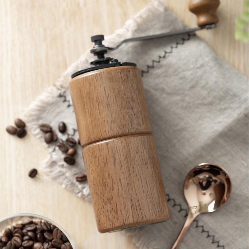 手動コーヒー 粗細調節可 コーヒー豆 セラミック マグカップ付き 手回し アウトドア クリーニング コーヒー用品 _画像2