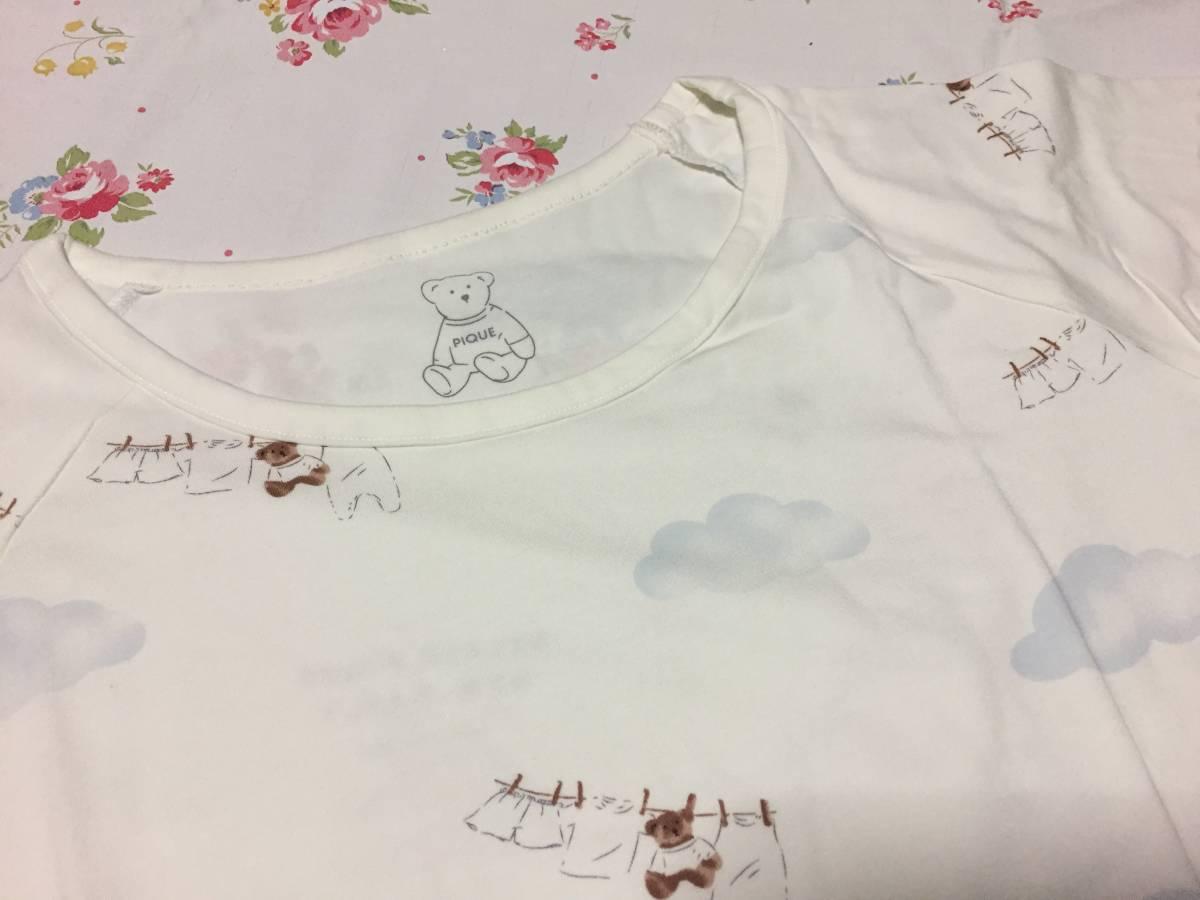 ジェラートピケ*新品ウォッシングTシャツ&ショートパンツセット*ホワイト 部屋着 ルームウエア_画像4