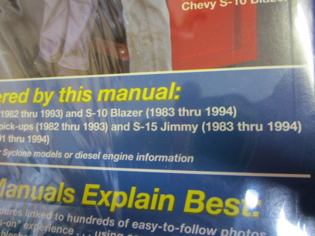 93 1993 Chevrolet S10 Blazer owners manual