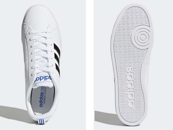 100円~ adidas バルストライプス2 [VALSTRIPES 2] 白/黒 27.0cm_画像5