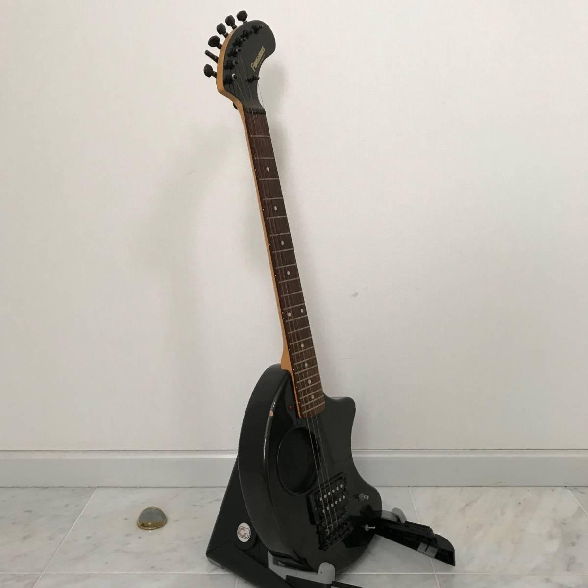ZO-3 芸達者 ディストーション アンプ内臓 GOTOHペグ ギター ブラックメタリック ジャンク FERNANDES_画像6