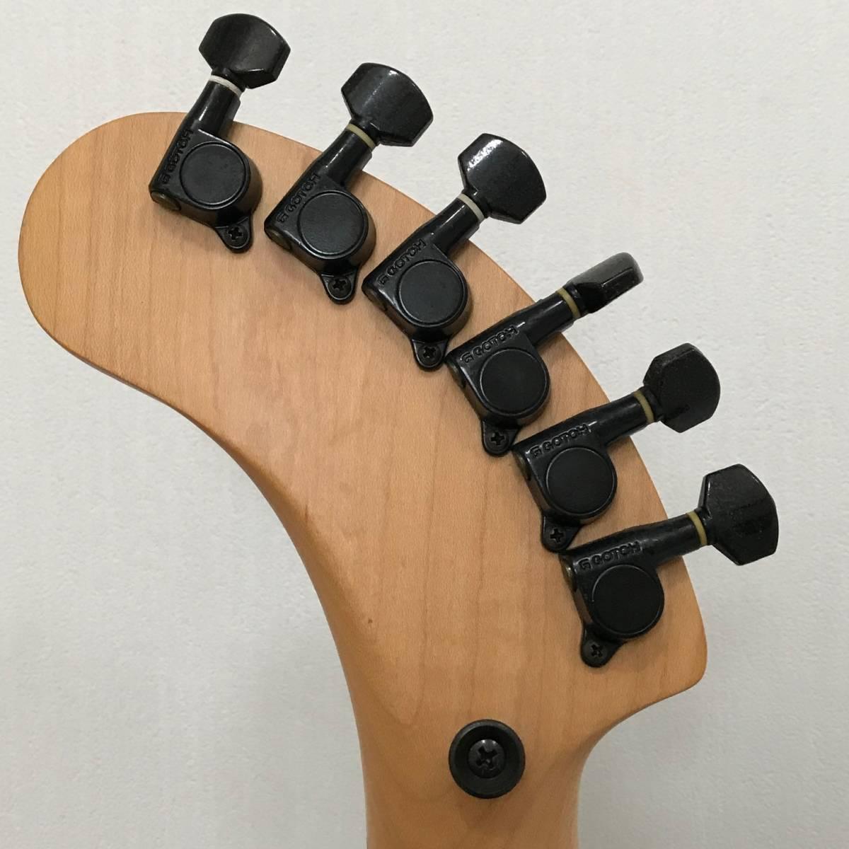 ZO-3 芸達者 ディストーション アンプ内臓 GOTOHペグ ギター ブラックメタリック ジャンク FERNANDES_画像8