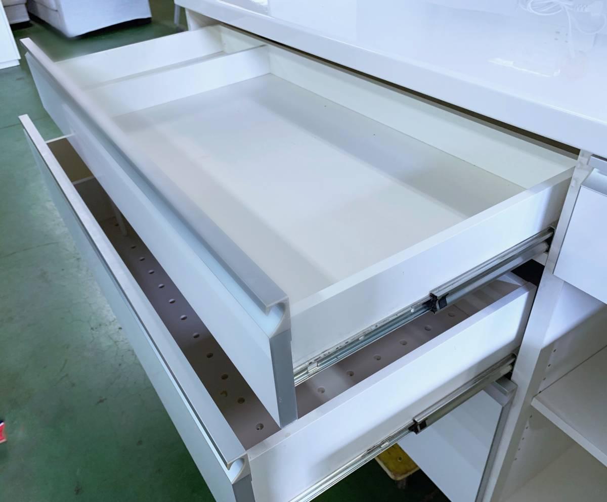 [ стоит посмотреть * очень красивый товар ]Pamouna* высококлассный буфет *4 поверхность широкий / подушка do lower *W1390×D550×H2022!