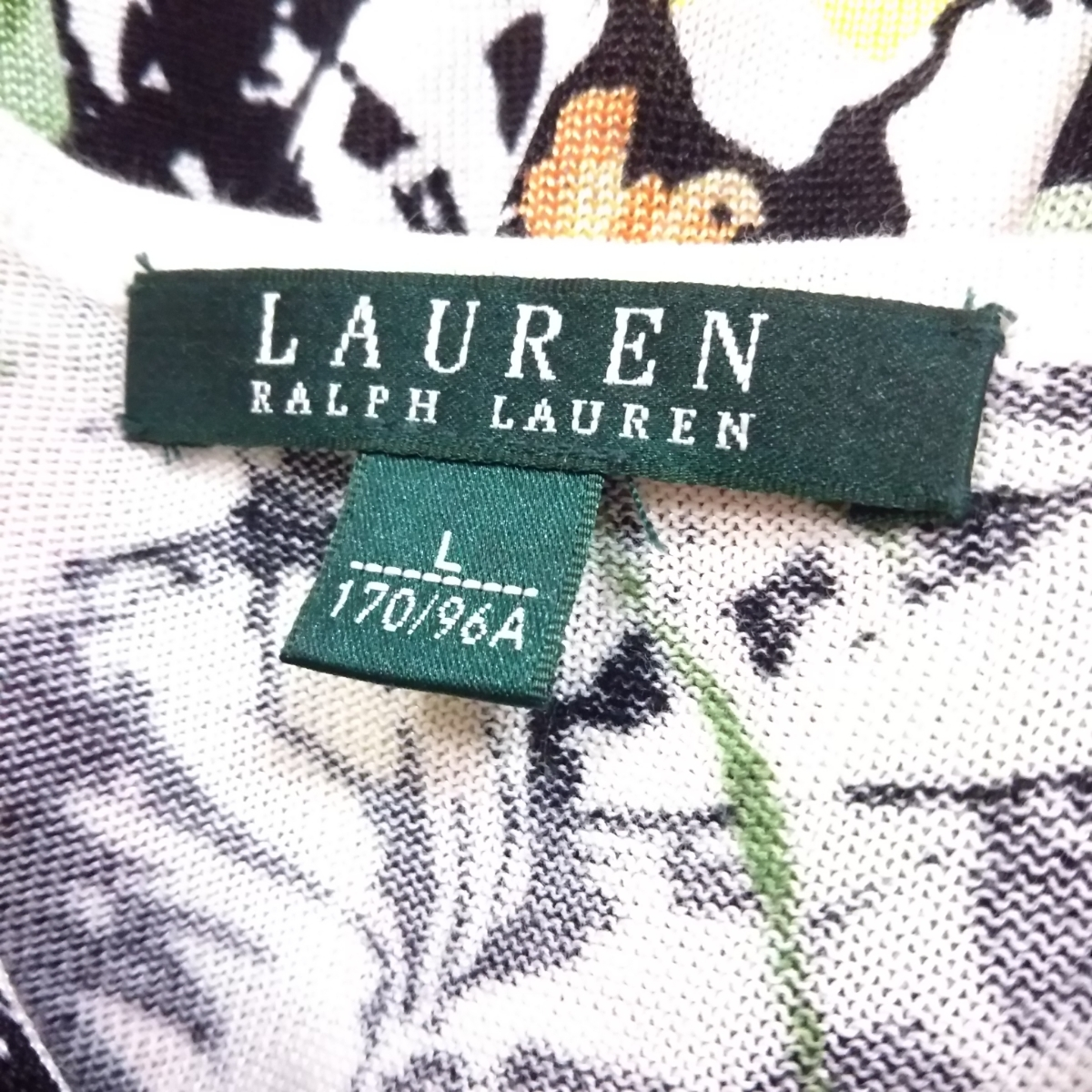♪ラルフローレン 長袖トップス/白黒色/花柄/RALPH LAUREN_画像8