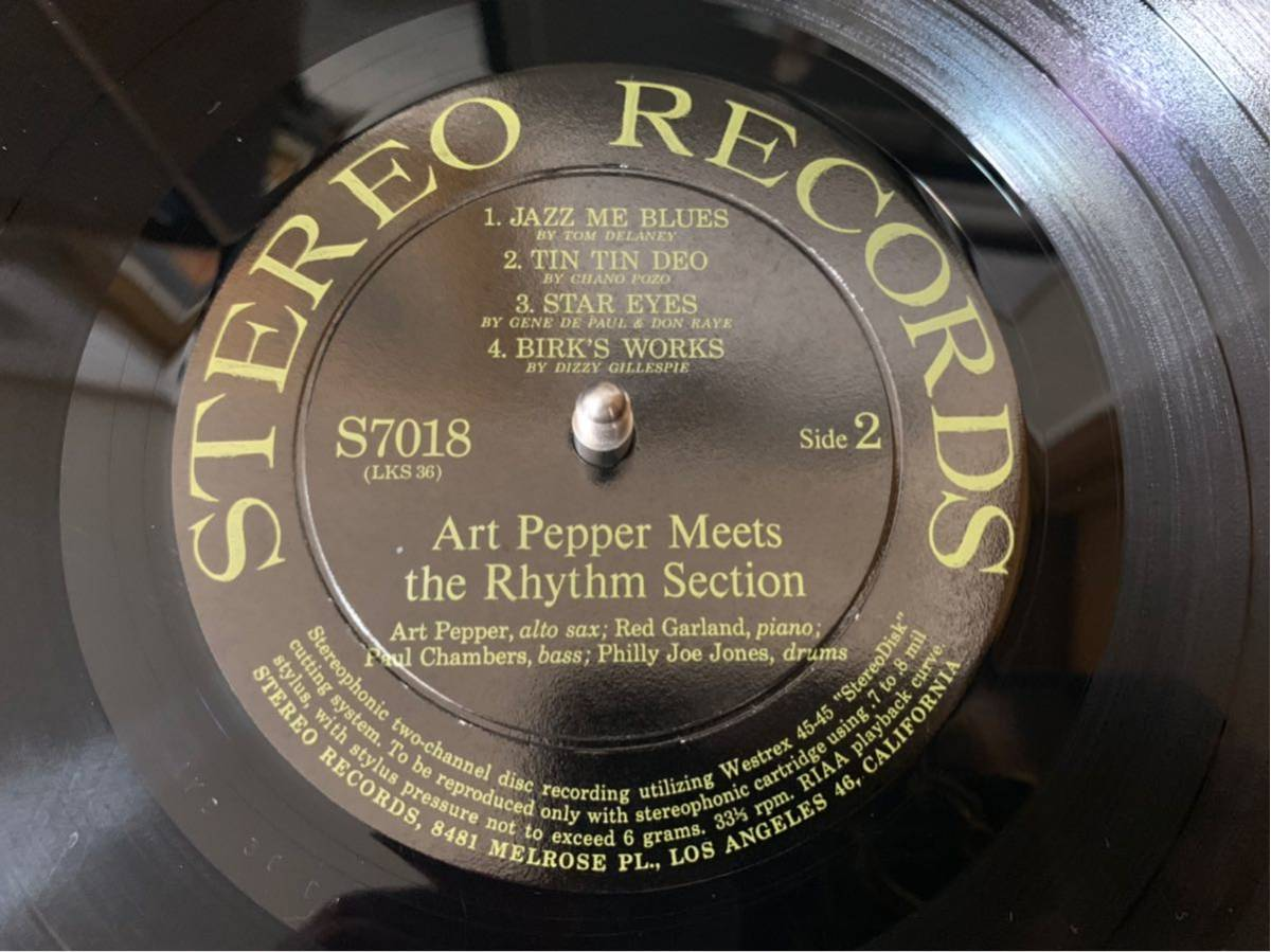 オリジナルステレオ盤Art Pepper/meets The Rhythm Section _画像6