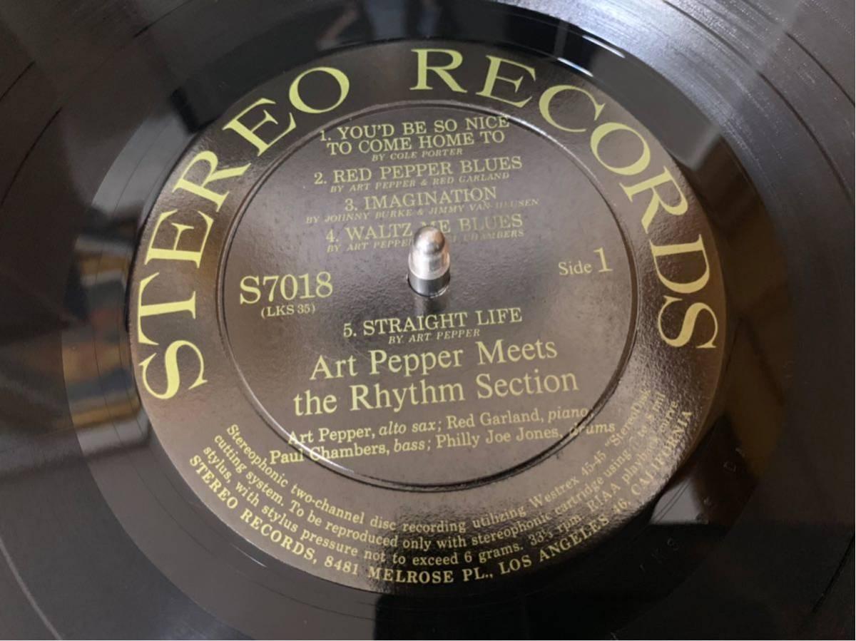 オリジナルステレオ盤Art Pepper/meets The Rhythm Section _画像4