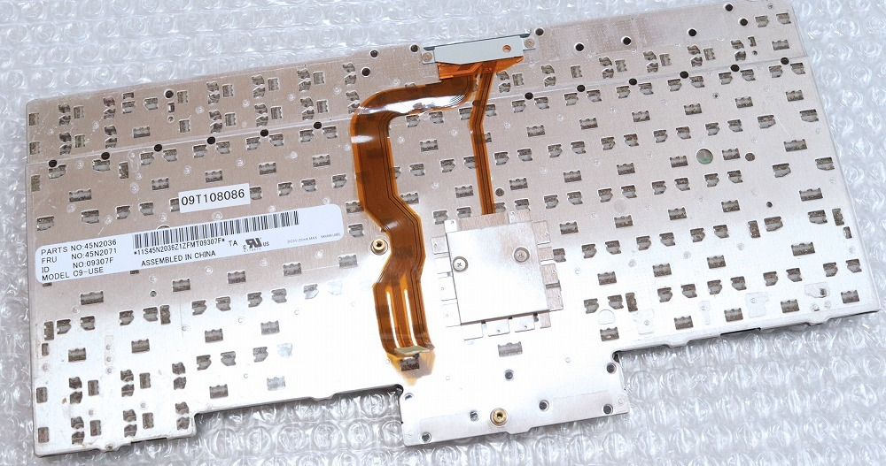 e★Lenovo ThinkPad T410 T510 X220 T420 T520 キーボード 中古 ジャンク 英語英字 e_7715_04_画像3