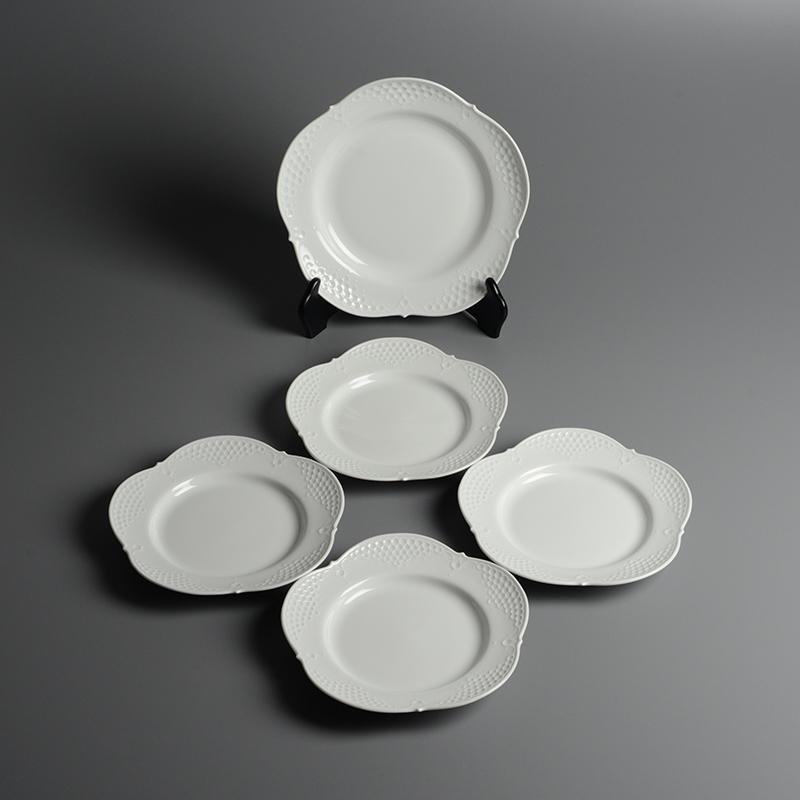 皿/プレート Meissen/マイセン Limoges/リモージュ ホワイトレリーフ 計5点(2種)まとめて 白 ルードヴィッヒ・ツェプナー ヴィンテージ