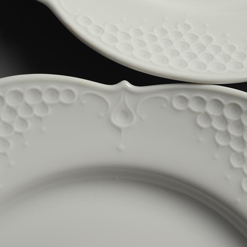 皿/プレート Meissen/マイセン Limoges/リモージュ ホワイトレリーフ 計5点(2種)まとめて 白 ルードヴィッヒ・ツェプナー ヴィンテージ_画像6