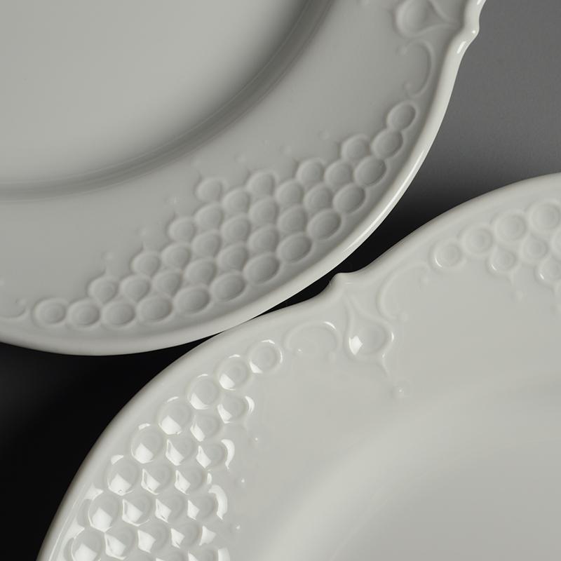 皿/プレート Meissen/マイセン Limoges/リモージュ ホワイトレリーフ 計5点(2種)まとめて 白 ルードヴィッヒ・ツェプナー ヴィンテージ_画像5