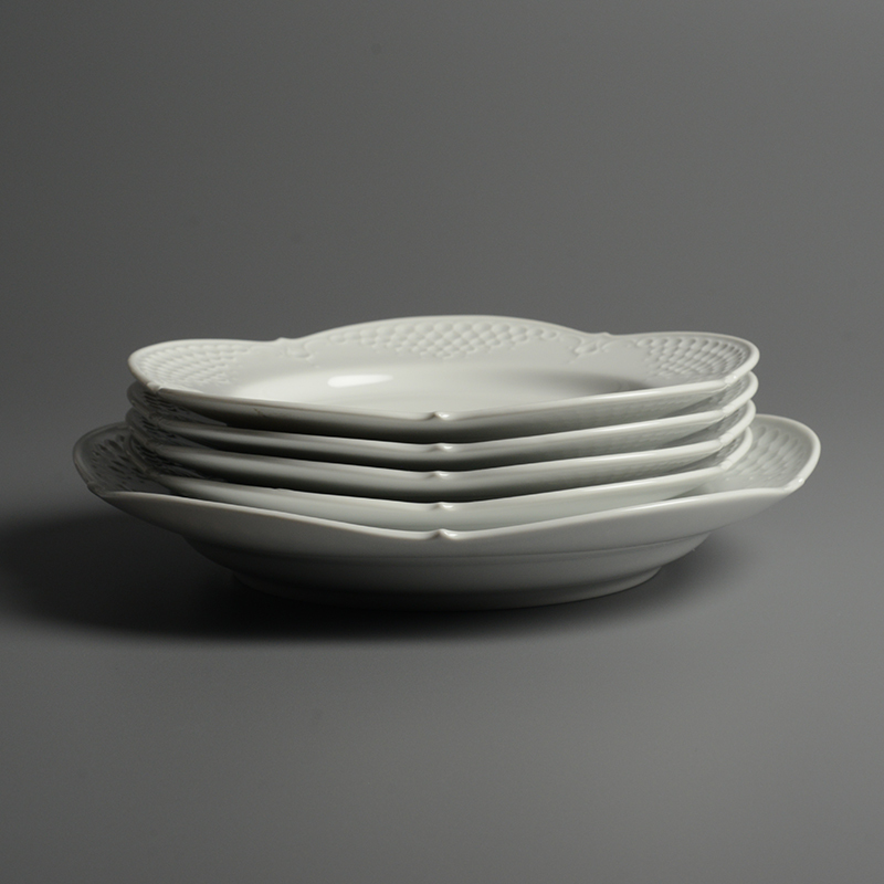 皿/プレート Meissen/マイセン Limoges/リモージュ ホワイトレリーフ 計5点(2種)まとめて 白 ルードヴィッヒ・ツェプナー ヴィンテージ_画像2