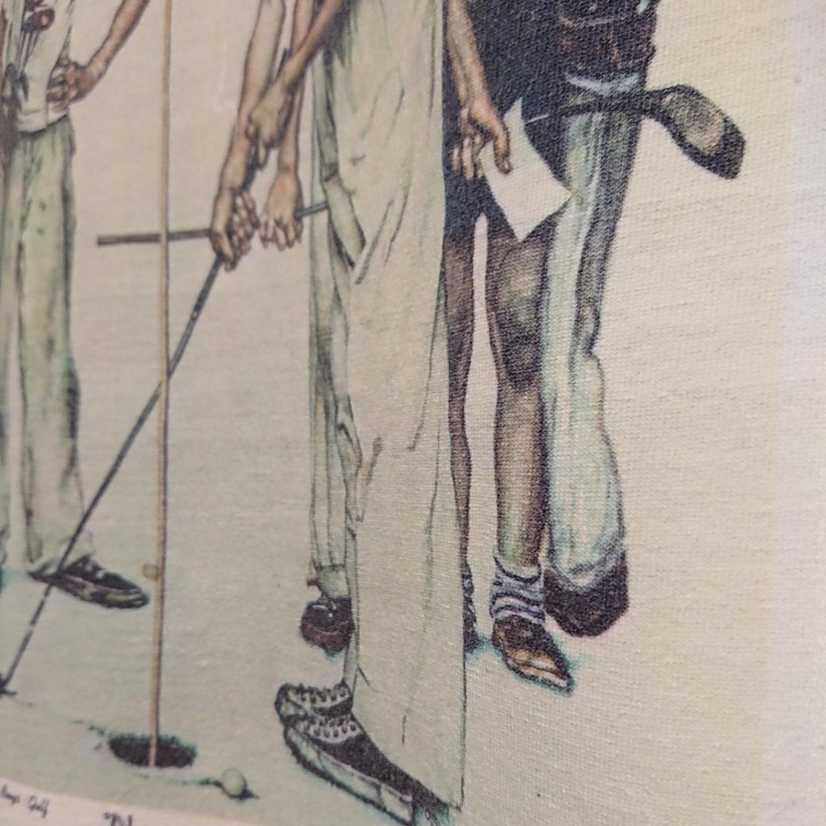 90s ビンテージ NORMAN ROCKWELL ノーマン ロックウェル Tシャツ アート t アメリカ usa 製 白 S プリント 古着_画像4