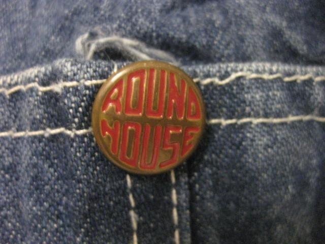 ビンテージUSA製ラウンドハウスROUND HOUSEオーバーオール古着デニムパンツW46サロペットジーンズつなぎペインター1円ワークパンツ作業服XL_画像6